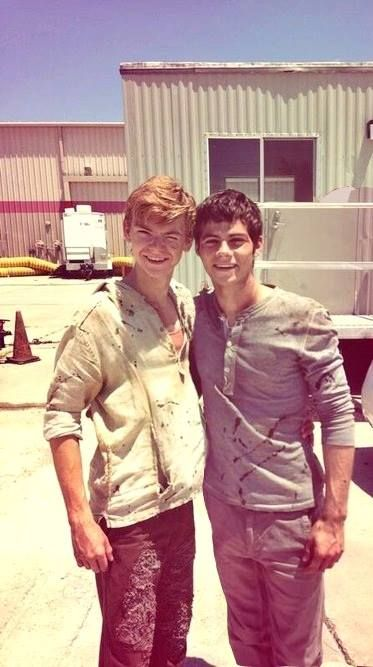 Thomas Sangster and Dylan Obrien-The Maze Runner my two favorite guys!! Mostly o'brien doh!!