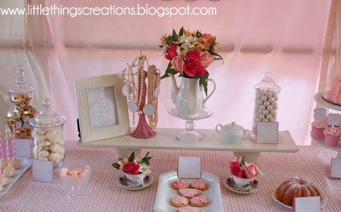 Pearl and Lace 30th party by Little things Creations