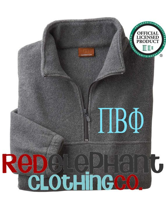 Pi Beta Phi Jacket Stay warm and stylish this fall with our UNISEX fit Adult Monogram Quarter Zip Pull Over Jacket you too can add some
