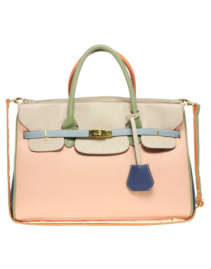 ASOS Color Block Smart Bag (Birkin inspired look)