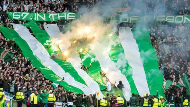 """Green Brigade display against Hearts Celtic say the Green Brigade section of the club's Glasgow stadium will be closed for the next two games """"amid serious safety concerns"""". The club is writing to the 900 season-ticket holders affected to explain the decision and """"next..."""