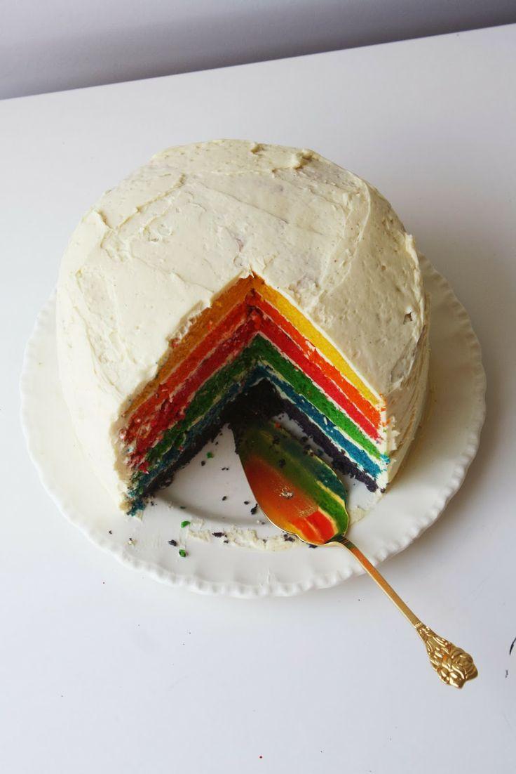 Rainbow Cake w/ Vanilla Buttercream
