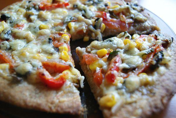 Makaron i Rodzynka: W deszczowy dzień. Zdrowa pizza.