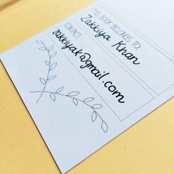 This Book Belongs to... - Free Book Card Printable