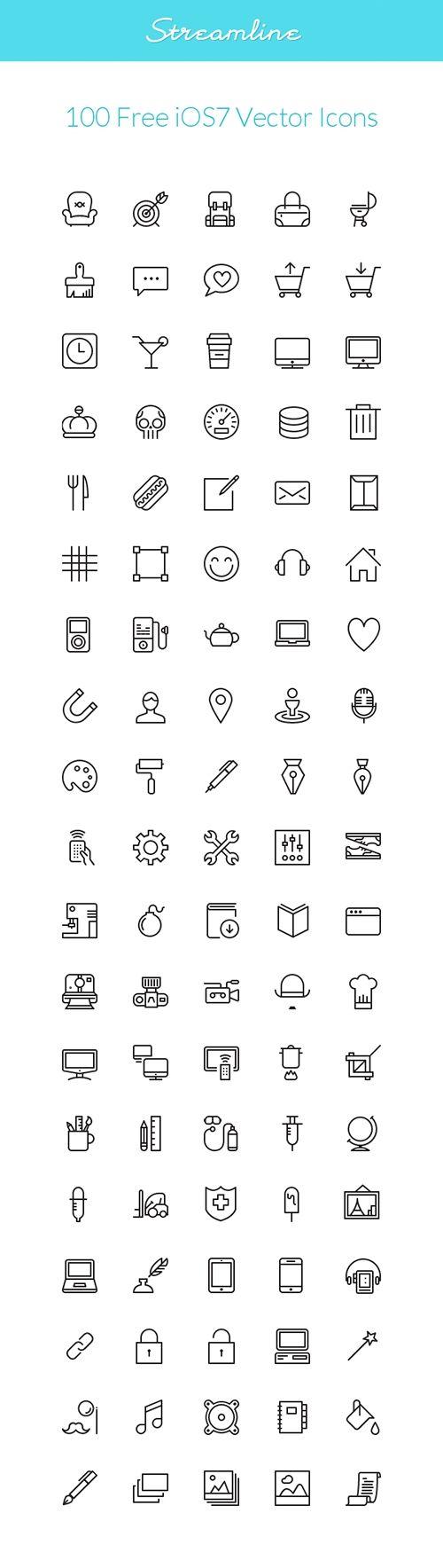 Wireless icon line iconset iconsmind - Vector Web Icons Streamline Ios7
