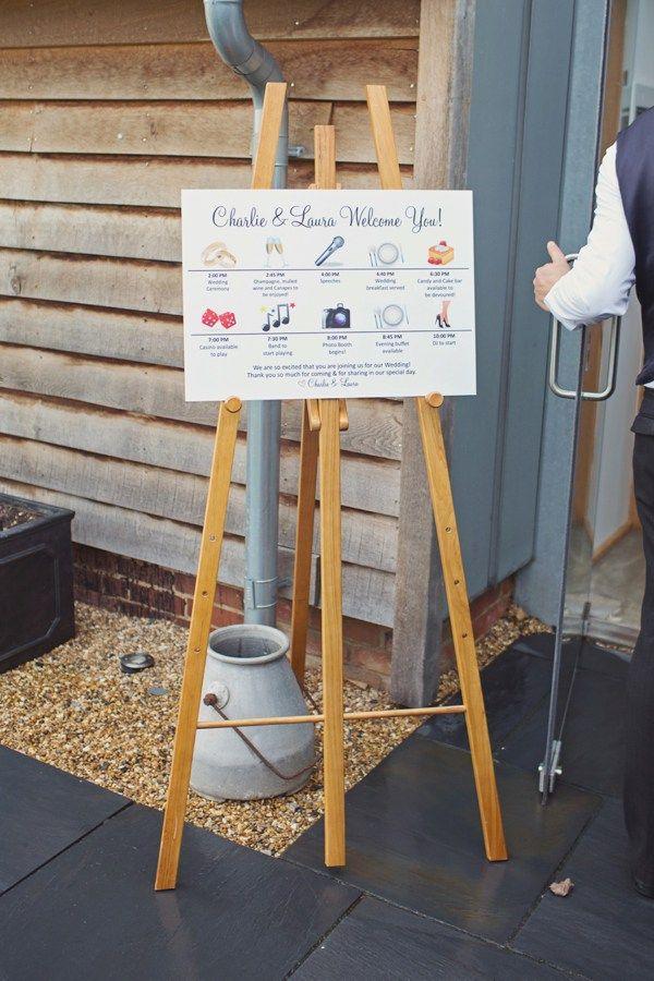 Christmas Barn Wedding Sign Order Day http://www.cottoncandyweddings.co.uk/