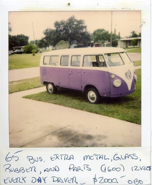 I want a VW bus so badly when I am older. the best possible car for me I could imagine