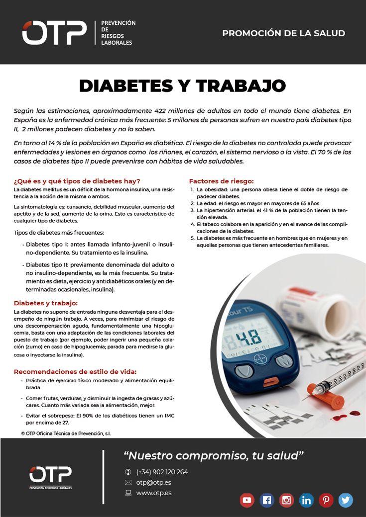 diabetes tipo 2 riesgos de trabajo
