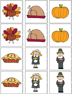 FREE Thanksgiving Memory Game!
