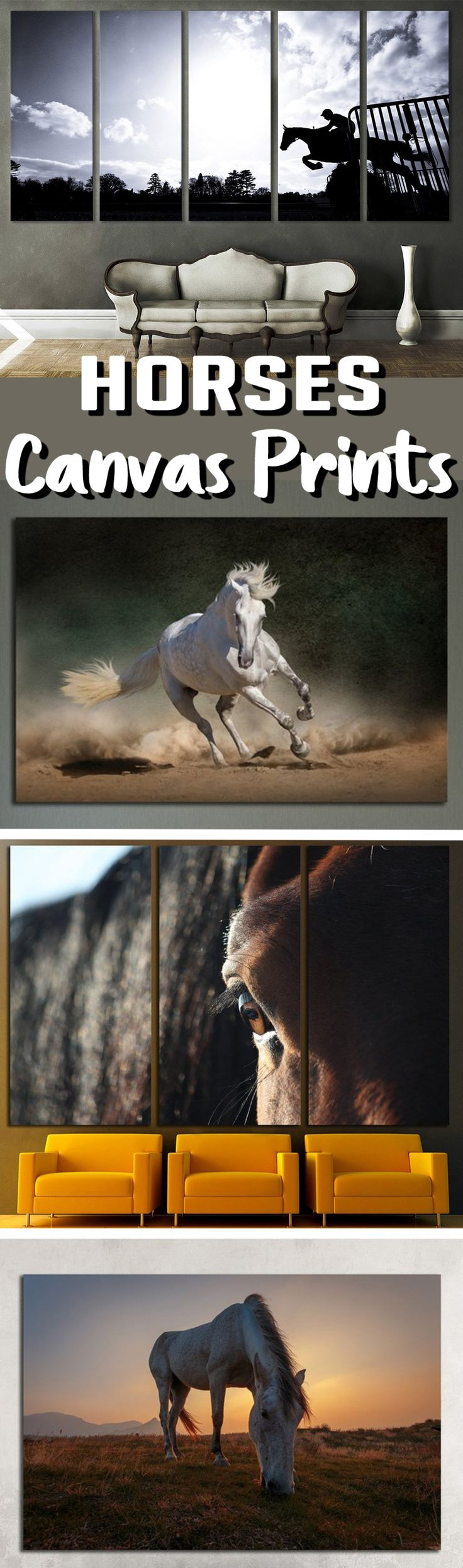 Large Horse Wall Art for Home & Office decoration.