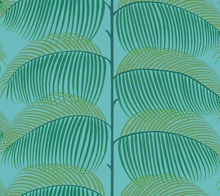 Manila Turquoise / Green wallpaper by Sanderson