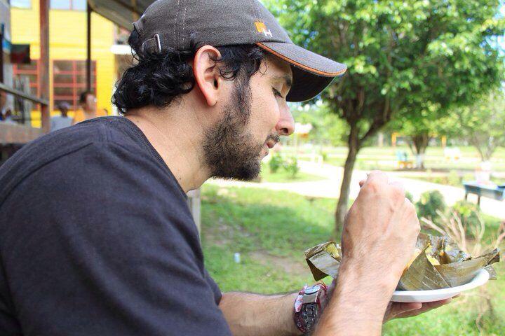 "Having Breakfast ""tamal"" in Puerto Nariño,Col. Amazonas"