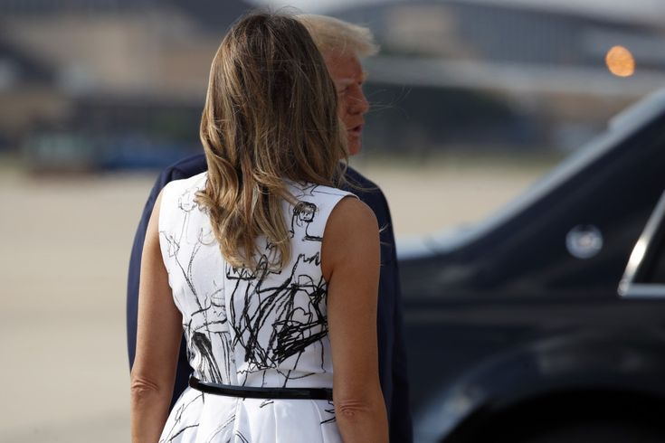 Fashion Notes Melania Trump Wears Off The Runway Mcqueen At Mt Rushmore Tank Top Fashion Fashion How To Wear