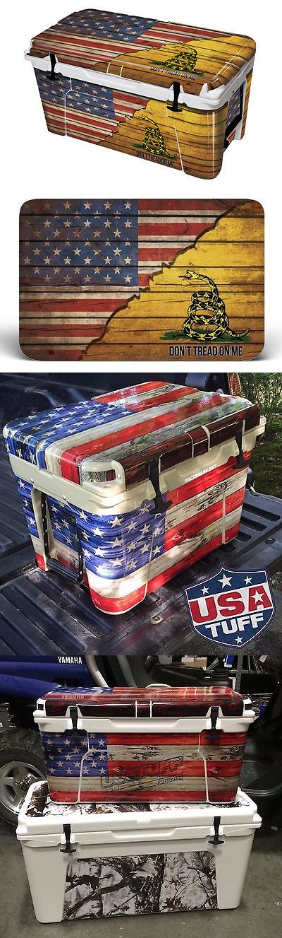 Camping Ice Boxes and Coolers 181382: Thickest And Tuffest Full 24Mil Wrap Tundra Yeti 45Qt Cooler Gasden Don'T Tread -> BUY IT NOW ONLY: $59.95 on eBay!