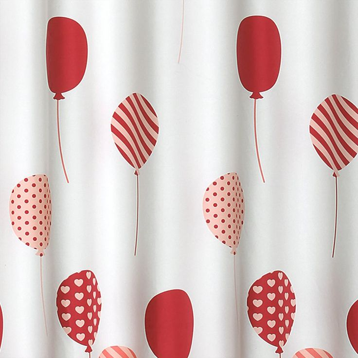 Lush Decor Flying Balloon Polyester Shower Curtain Pink - 16T000930