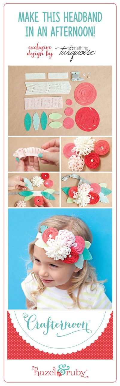 Crafternoon - Felt Flower Headband My children are not into headbands- but this could be cute for the birthday girl to wear!