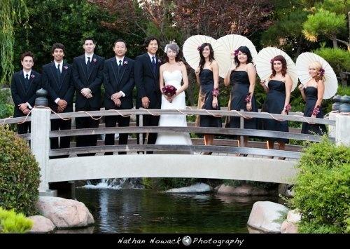 Flowers, Hair, Reception, White, Dress, Ceremony, Red, Makeup, Purple, Bridesmaids, Black, Inspiration, Board, Earl burns miller japanese garden