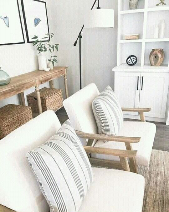Small Apartment Accent Chairs.Console Table Behind Accent Chairs Interior Design Living Room
