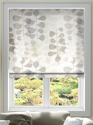 Blooming Meadow Faux Silk Neutral Roman Blind from Blinds 2go