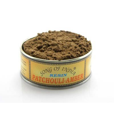 Patchouli Amber Resin/Herb in Tin 40gm