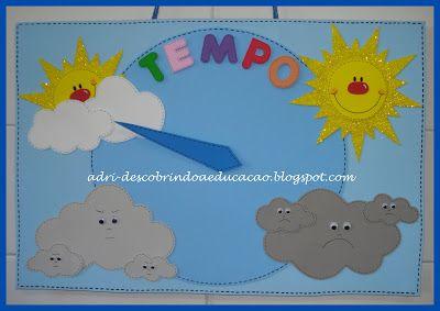 ♥ Descobrindo a Educação Infantil ♥: Cartaz do tempo em EVA