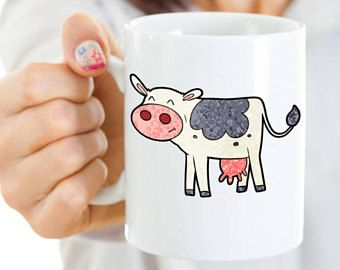 Cute Cow lover coffee mug, cow owner, ceramic coffee mug, cows, farm, dairy mug. mug with cow, cow lover gift, birthday gift, christmas gift