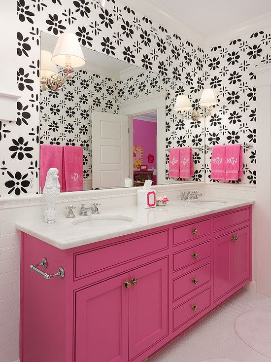 Best Pink Traditional Bathrooms Ideas On Pinterest Color - Pink towels for small bathroom ideas