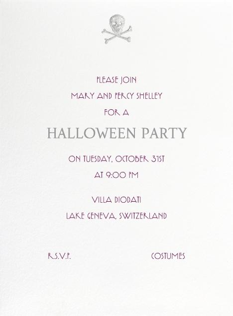"""Skull and Bones (White)"" Invitation, by Thornwillow, Paperless Post: Client 10, Skull, Bones White, Paperless Post, Invitation"