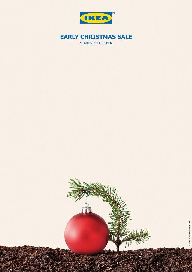 "IKEA print ad – ""Early Christmas Sale"". #creative #advertising"