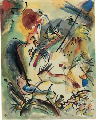 Kandinsky-Let me draw for you a sonnet. With dancing lines that sing confident rhymes, it will weave a rope between us.