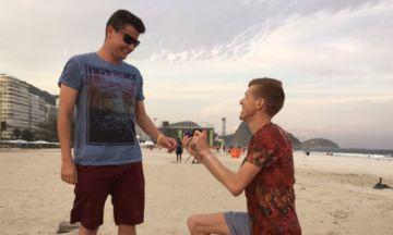 Team GB's Tom Bosworth Proposes To His Boyfriend On Copacabana Beach In Rio