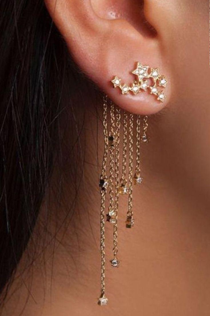 Nose piercing gun vs needle  Shooting Star Dangle Earrings  Boho styling  Pinterest  Earrings