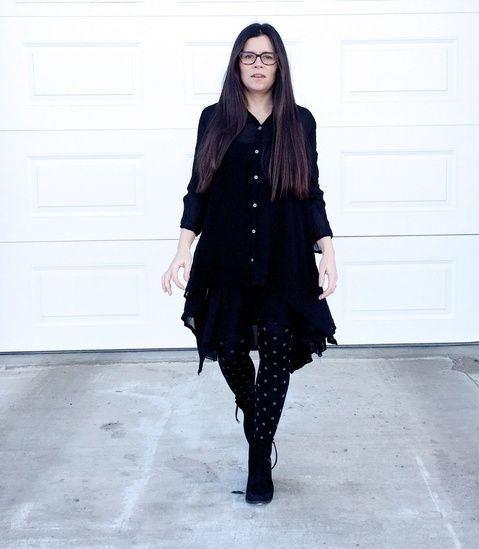 "Okay, another black outfit and another ""favourite,"" but for real I think this one is. Just look at those layers and that flow! Yes, girl!  #ShopStyle #MyShopStyle #ssCollective #ootd #mylook #ShopStyleFestival #lookoftheday #currentlywearing #wearitloveit #getthelook #todaysdetails #shopthelook"