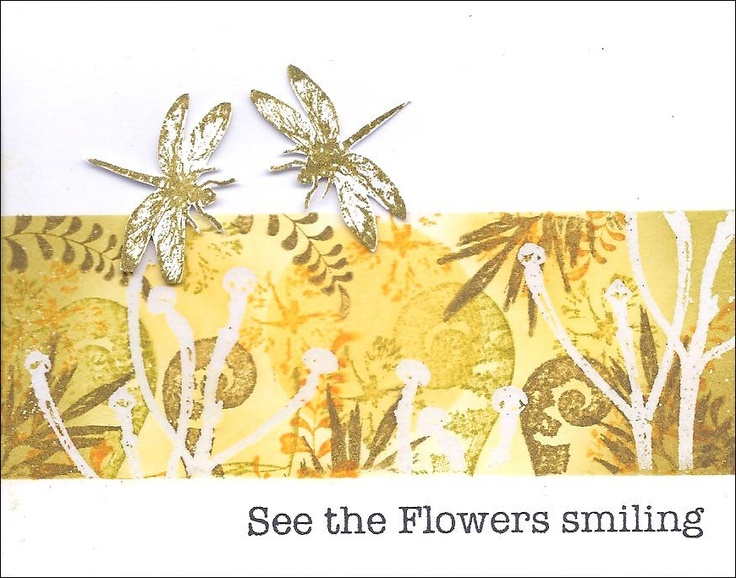 See the flowers smiling!
