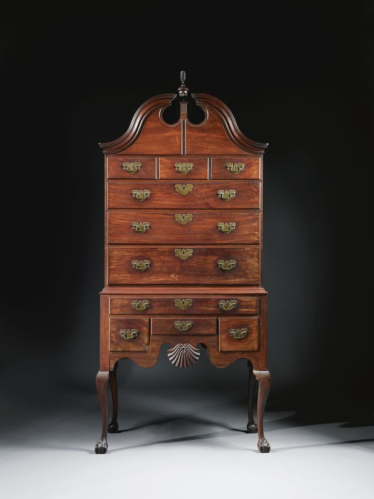 High Quality The Exceptional Lieutenant Colonel Oliver Arnold Queen Anne Shell Carved  And Figured Mahogany High Chest Of Drawers With Open Talons, Made By John  Townsend, ...