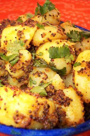 Barbara Adams Beyond Wonderful » Sookhi Bhaji Indian Potatoes with Mustard Seeds Recipe