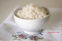 """Receta de arroz blanco perfecto (como del """"chino""""). Paso a paso con fotos"""