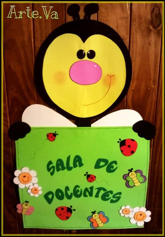 Cartel abejita para salas carteles infantiles for Carpetas para jardin de infantes
