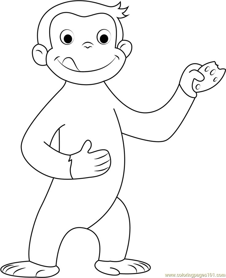 Monster image intended for curious george printable