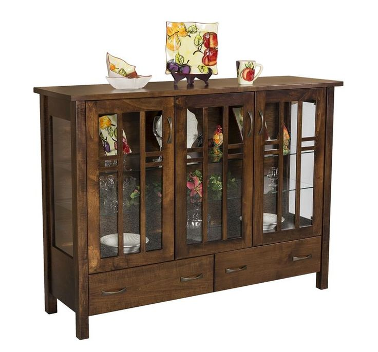 Amish Acadia Curio Cabinet Consider the Acadia Curio Cabinet to serve as a stylish home bar.