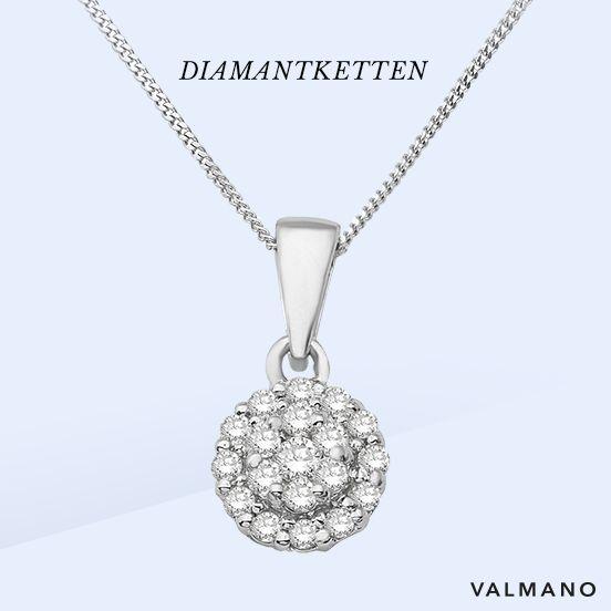 #Diamanten machen jede Frau zur #Königin: Ob als Geschenk oder für Dich selbst – #Diamanthalsketten sind die perfekte Idee! #diamond