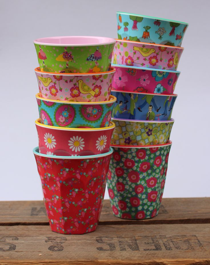 RICE MELAMINE CUP CLOVER - RICE Melamine Cups - Little Green Sub