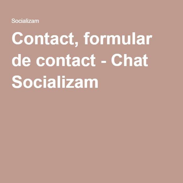 Contact, formular de contact - Chat Socializam