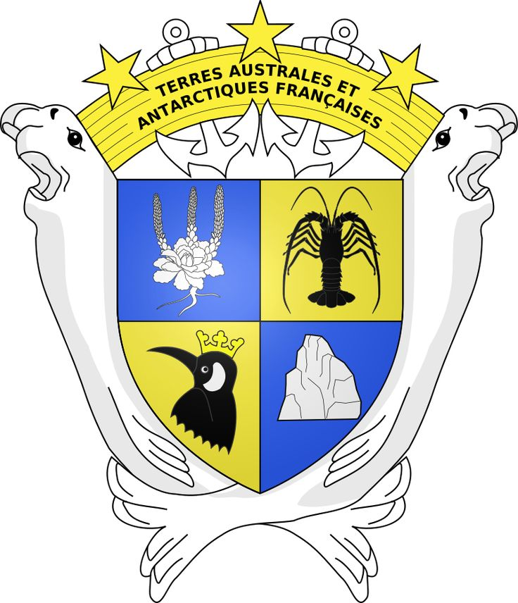 Armoiries des Terres australes et antarctiques françaises - Coat of arms of the French Southern and Antarctic Lands