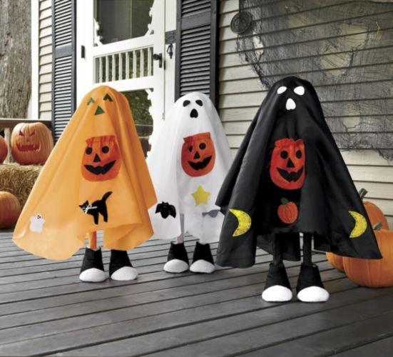 halloween kids decor i would make these like the kids from its the great pumpkin