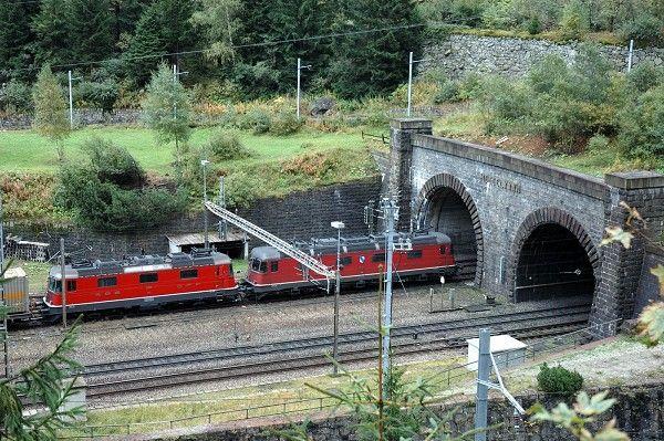North portal of the Saint Gothardt Tunnel at Göschenen