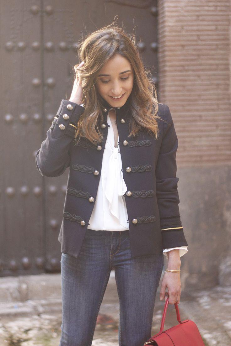 Navy Blue Military Jacket | BeSugarandSpice - Fashion Blog