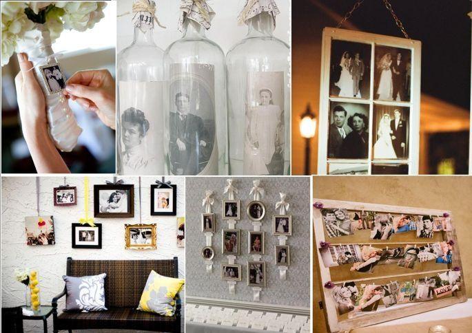 immagini e vecchie fotografie per personalizzare un matrimonio