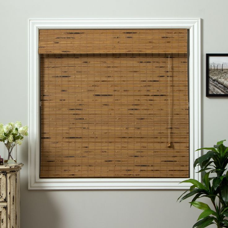 Refresh your window decor with this beautiful natural bamboo Roman shade. Made from environmentally friendly materials, this woven-wood shade is easy to clean and filters light naturally to give your home or office a warm, inviting ambiance.