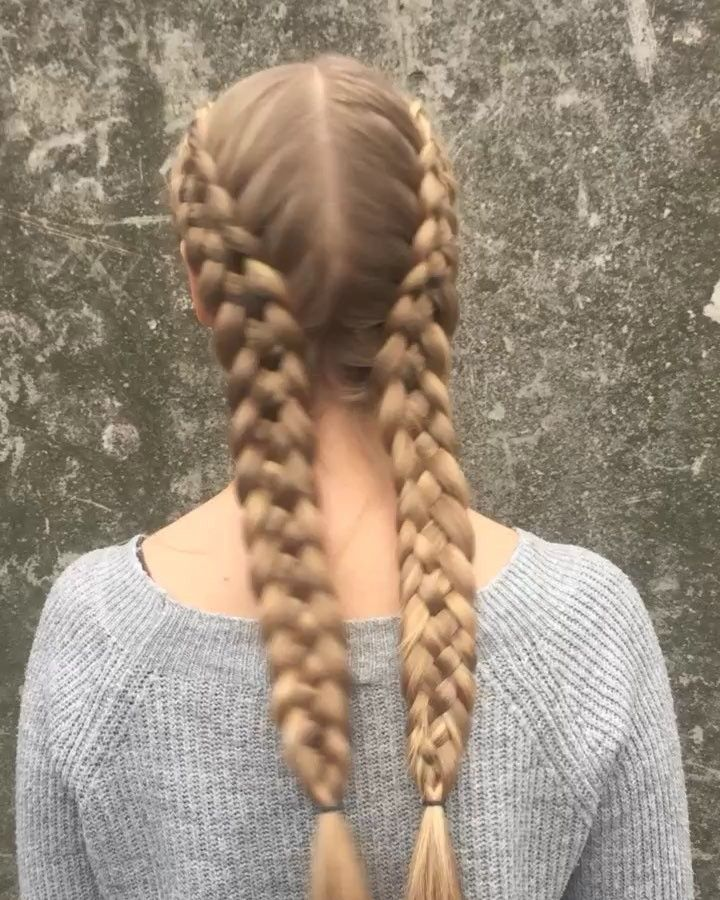Double five strand #dutchbraids – loved these on her! These take some time but I…, #double #dutchbraids #loved #strand #these,'#fashionhair #hairs…